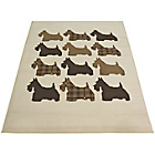 more details on Melrose Scottie Dog Rug - 120x170cm - Natural.