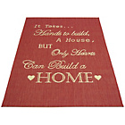more details on Melrose County Home Script Rug - 80x150cm - Red.
