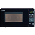 more details on Sharp R272KM 20L Solo Touch Microwave - Black.