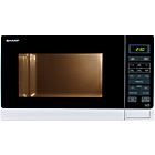 more details on Sharp R372WM 25L Solo Microwave - White.