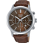 more details on Pulsar Mens Brown Strap Chronograph Watch.