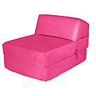 more details on ColourMatch Single Cotton Chairbed - Funky Fuchsia.