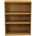 more details on Phoenix 3 Shelf Wide Bookcase - Beech.