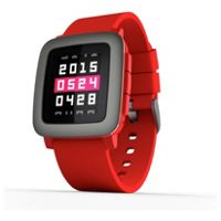 Pebble Time Fitness Smartwatch (Red)