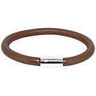 more details on Link Up Brown Leather Cord Bracelet.