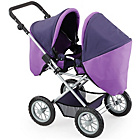 more details on Bayer Dolls Twin Pram - Purple.
