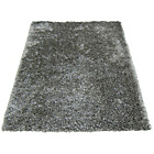 more details on Melrose Ribbon Shaggy Rug - 60x110cm - Silver.