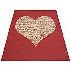 more details on Melrose County Your Heart Rug - 60x110cm - Red.