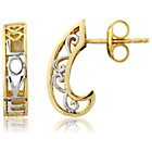 more details on 9ct Gold Plated Sterling Silver 'Love' Creole Earrings.