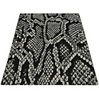 more details on Melrose Snake Print Rug - 120x170cm - Grey.