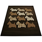 more details on Melrose Scottie Dog Rug - 120x170cm - Chocolate.
