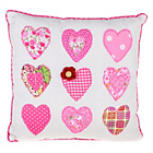 more details on Country Baskets Pink Hearts Cushion - 30x30cm.