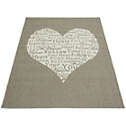 more details on Melrose County Your Heart Rug - 80x150cm - Taupe.