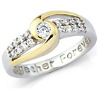 more details on Gold Plated Silver 'Together Forever' Ring - T.