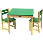 more details on Liberty House Toys Tikk Tokk Boss Table Chair Set - Green.