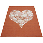 more details on Melrose County Your Heart Rug - 80x150cm - Terracotta.