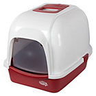 more details on Pet Brands Oval Cat Litter Tray with Hood - Red.