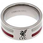 more details on Stainless Steel Liverpool Striped Ring - Size U.
