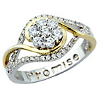 more details on Sterling Silver Stone Set Ladies 'Promise' Dress Ring - P.