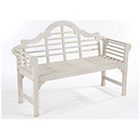 more details on Lutyens Style Hardwood Garden Bench - White.