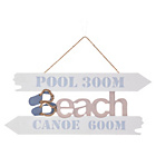 more details on Coast Wooden Decorative Sign Beach.