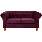 more details on Chesterfield Regular Fabric Sofa - Plum.
