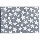 more details on Grey Nursery Rug with White Stars - 100x150cm.