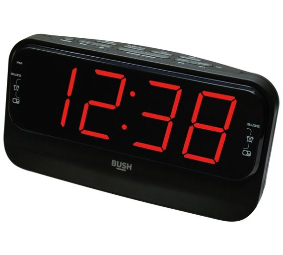 buy bush big led alarm clock radio at your. Black Bedroom Furniture Sets. Home Design Ideas