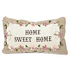 more details on Country Basket Home Sweet Home Cushion - 17.5x30cm.
