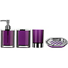 more details on Premier Housewares Purple 4 Piece Bathroom Set.