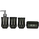 more details on Premier Housewares Cristallo Black 4 Piece Bathroom Set.