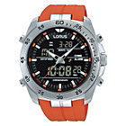 more details on Lorus Mens Orange Digital and Analogue Watch.