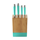 more details on ColourMatch 4 Piece Knife Block Set - Aqua.