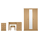 more details on Kensington 3 Piece 3 Door Wardrobe Package - Oak Effect.