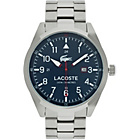 more details on Lacoste Mens' Montreal Blue Dial Steel Bracelet Watch.