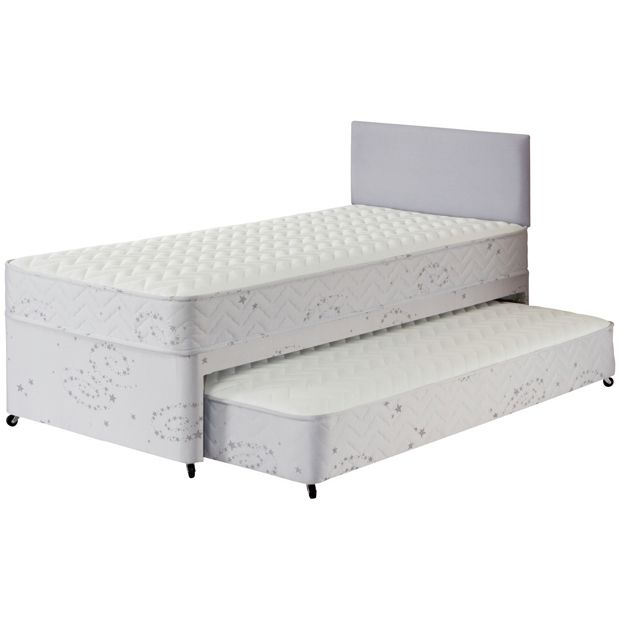 Buy airsprung new elliott deluxe single divan trundle for Divan trundle bed