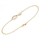 more details on 9ct Gold Diamond Infinity Bracelet.