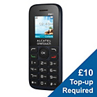 more details on EE Alcatel 10.13 Mobile Phone - Black.