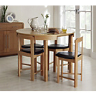 more details on Hygena Alena Circular Dining Table and 4 Chairs - Solid Oak.