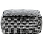 more details on Habitat Durrie Low Pouf - Black and White.