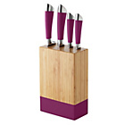 more details on ColourMatch 4 Piece Knife Block Set - Purple Fizz.