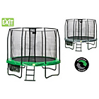 more details on EXIT Jumparena 10FT Trampoline - Green Grey.