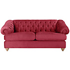 more details on Heart of House Somerton Large Fabric Sofa - Berry.