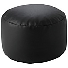 more details on Leather Effect Footstool - Black.