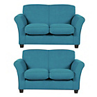 more details on Caitlin Regular and Regular Fabric Sofas - Teal.