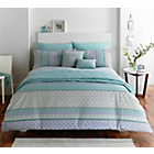 more details on Dreams N Drapes Kalisha Blue Duvet Cover - Kingsize.
