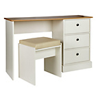 more details on Kensington Dressing Table and Stool - Oak Effect and White.
