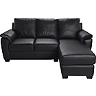 more details on HOME Antonio Leather/Leather Eff Right Corner Sofa - Black.