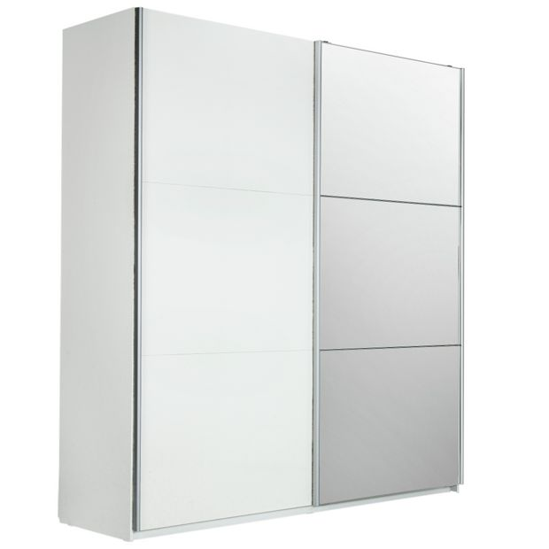 Buy Hygena Bergen 2 Door Large Mirrored Sliding Wardrobe
