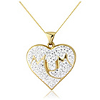 more details on 9ct Gold Crystal 'Mum' Heart Pendant Necklace.